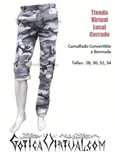camuflado manchado tres cuartos bermuda pantalon gris militar urbano brutal death grind core colombia bogota medellin cali manizales barranquilla