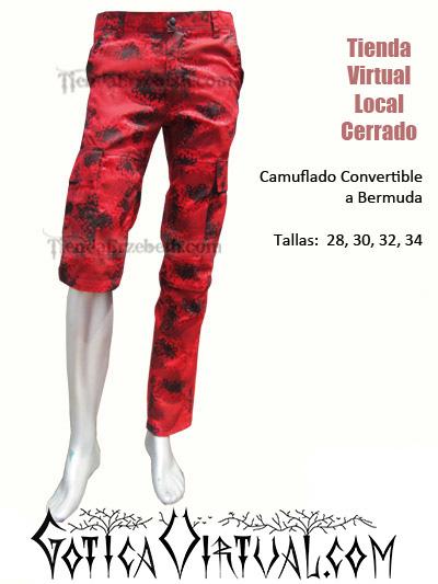 camuflados manchado tres cuartos convertible bermudas pantalon urbano militar rojo pixelado metal brutal death grind hardcore colombia bogota medellin cali yopal