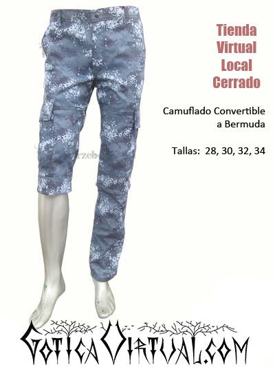 camuflado azul manchado tres cuartos convertible bermudas pantalon marine militar azul pixelado brutal death hardcore villavicencio pasto yopal pereira cartagena