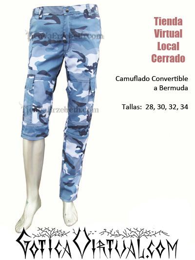 camuflado azul manchado tres cuartos bermuda pantalon marine militar metal colombia bogota cali barranquilla