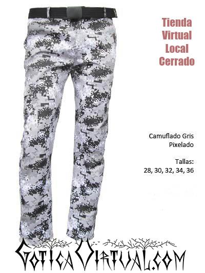 Camuflados Bogota Pantalones para Dama Caballero Gris Azul ...