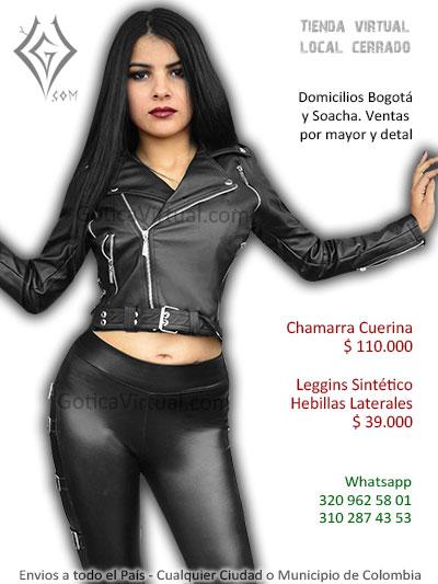 chamarra cuerina femenina prendas rock metal chica bogota caldas sincelejo venta online domicilios colombia