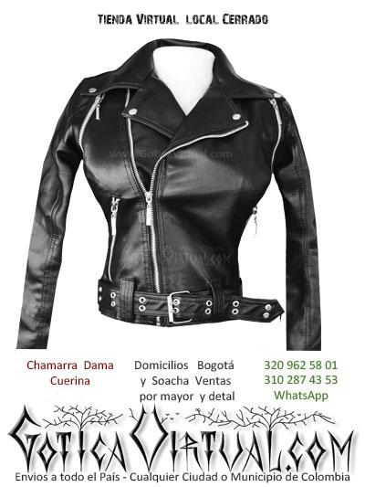 chamarra cuerina dama tienda onine store bogota venecia restrepo chapinero soacha clan metaleros tienda rock ropa