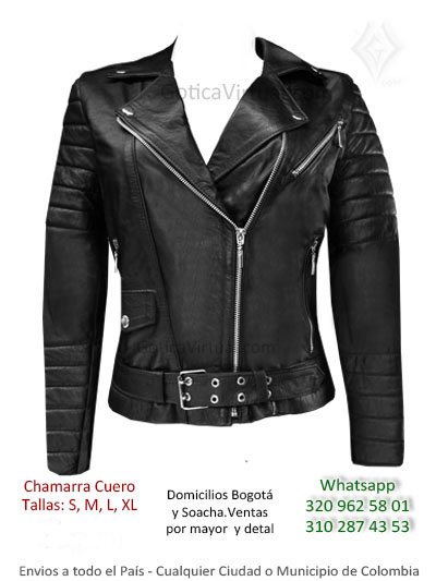 chamarra cuero femenina tienda online rock metal bogota medellin cali armenia tunja cali cucuta colombia
