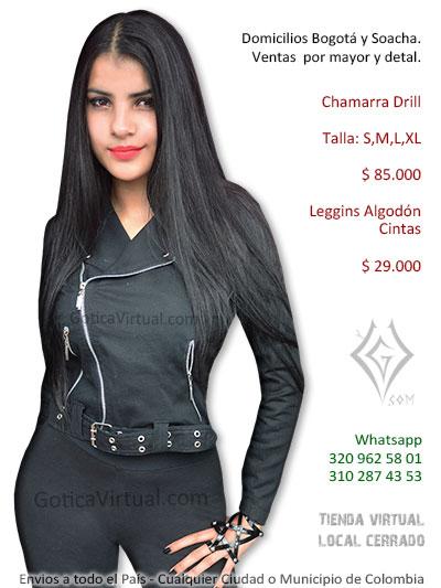 chamarra drill negra femenina tienda online bogota cali armenia sincelejo tunja cesar pasto yopal quindio bucaramanga colombia