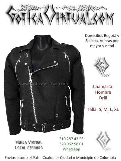 chamarras bogota metaleras masculina medellin hombre rockeras chaquetas negras cremalleras tunja manizales