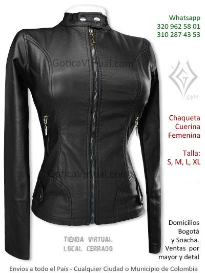 chaqueta cuerina femenina negra venta online domciilios bogota sencilla venta online domicilios pereira quindio funza cali villeta colombia