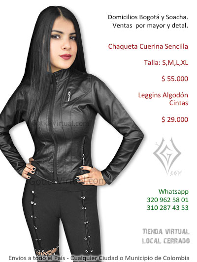 chauqeta cuerina secilla negra femenina venta online domicilios bogota valle cesar tunja armenia sincelejo pasto boyaca colombia