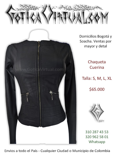 chaqueta cuerina femenina negra sencilla lisa bogota medellin sincelejo huila valle tunja pasto zipaquira colombia