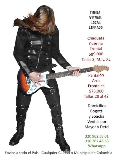 chaqueta cuerina frotal tienda online mascuina drill ropa accesorios rock metal bogota manizales antioquia yopal cesar chia casanare colombia