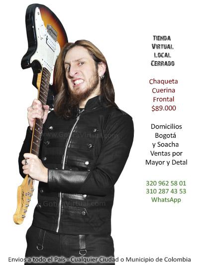 chaqueta cuerina frontal masculina drill chico rockero metalero tienda online bogota armenia medellin caldas tunja cali tulua leticia colombia