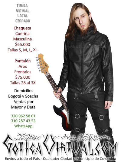 chaqueta cuerina masculina tienda online rock chico metal boutique bogota armenia valle zipaquira neiva cucuta bucaramana colombia