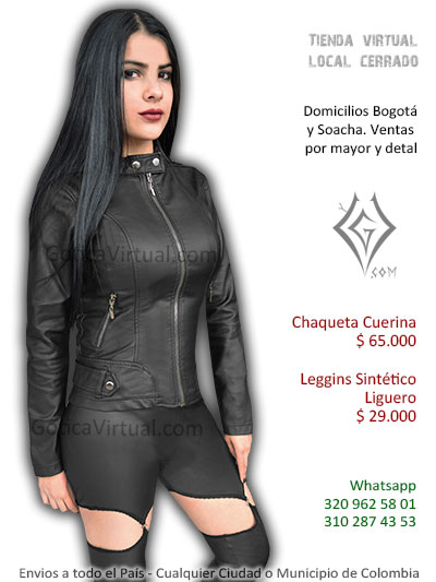 chaqueta cuerina femenina vetna online cuerllo botones negra sexy eocnomica venta online domicilios pereora tunja yopal casanare colombia