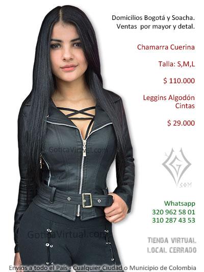 chamarra cuerina femenina venta online rock metal venta domicilios envios chapinero suba americas virrey colombia