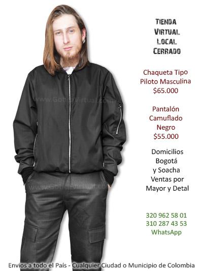 chaqueta piloto masculina tienda online rock metal boutique bogota cali neiva valle caldas sincelejo arauca villeta colombia