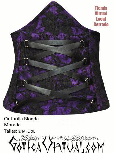 cinturilla blonda morada tienda gotica rock metalera sexy metalera chica dama con cintas colombia bogota medellin cali manizales barranquilla