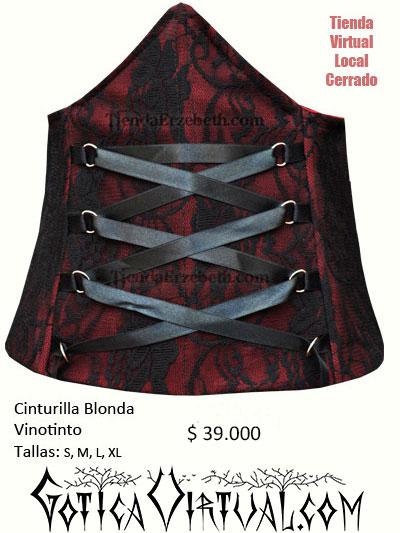 cinturilla blonda vinotinto corset cintas bogota medellin cali manizales pereira armenia tunja yopal buenaventura tienda gotica