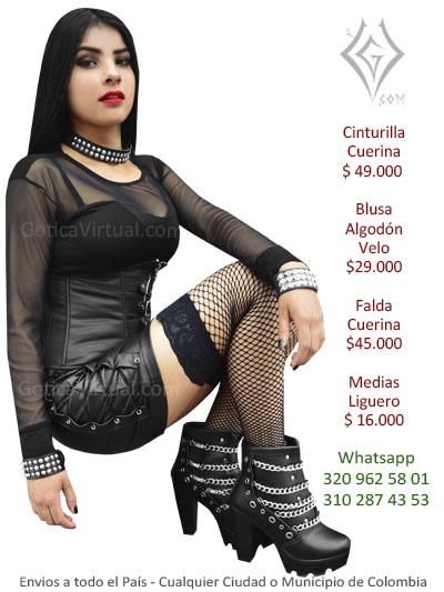 cinturilla cuerina faldas rock metal dark licradas fabrica ventas mayorista colombia bodega centro madrugon importador chino tolima moniquira ibuague cucuta tunja