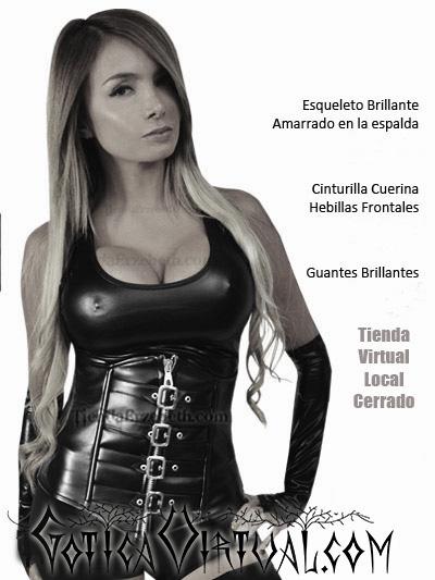 cinturilla cuerina hebillas cremallera amarrar ropa gotica colombia tienda caracas panama quito mexico lima madrid buenos aires