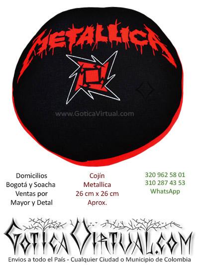 almohadas cojines bandas metallica rock metal thrash death black tienda online boutique bogota huila casanare tunja colombia