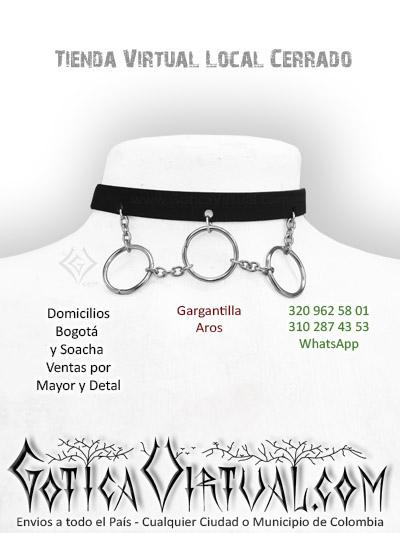 gargantilla aros cadenas accesorios tienda rock metal online bogota cali tunja chia mosquera quindio putumayo armenia caldas pasto colombia