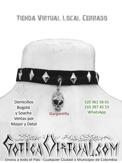 gargantilla calaveras tienda online rock metal accesorios bogota manizales armenia pasto medellin tunja colombia