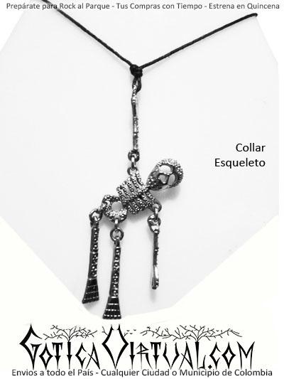 2a583bdc49ff collar esqueleto bogota huesos calabera articulado accesorios metal rock  envios medellin cali pasto pereira