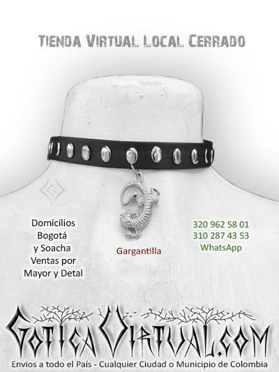gargantilla lagartija accesorios rock metal boutique online bogota caldas neiva yopal monteria cali villavicencio medellin cartagena colombia