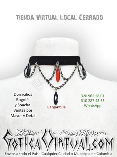 gargantilla cadenas dijes accesorios rock metal collar tienda online bogota medellin cauca quibdo funza fusagasuga pereira colombia