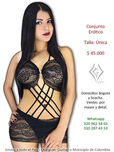 conjunto baby doll erotico bonito chica lenceria venta bogota manizales armenia leticia pasto valledupar tunja villavicencio colombia