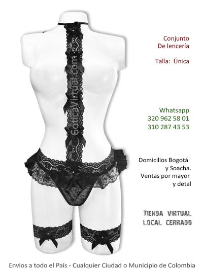 conjunto erotico lenceria negro sexy femenino venta online domicilios bogota soacha americas fontibon centro chico chapinero colombia