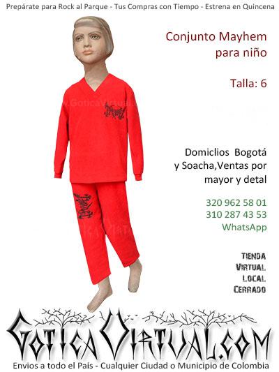 conjunto mayhem rojo nino bonito economico venta online domicilios bogota y soacha envios colombia