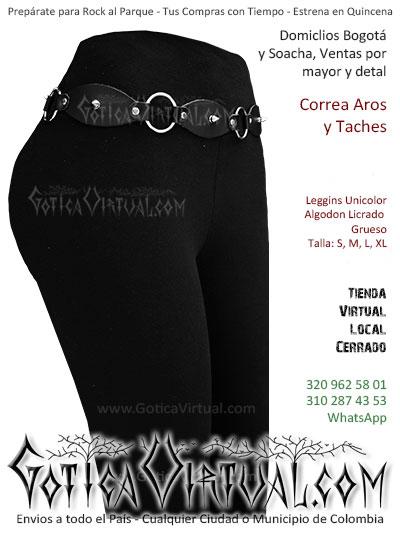 correa aros taches cuero mujer leggins venta online envios bogota cali pereira valle cucuta antioquia colombia