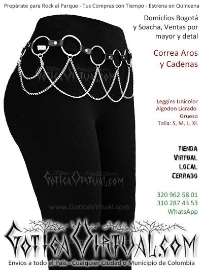 correa cuero cadenas aros leggins unicolor negro licrado envois bogota online tunja medellin zipaquira armenia colombia