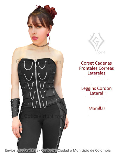 Corsets baratos Bogota goticos ropa metalera rockera sex shop ... 7a3652bcebc