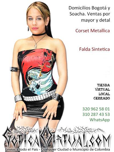corset metallica bandas tienda online metalera gotica blackera envios  medellin cali manziales 9ab609e28bc