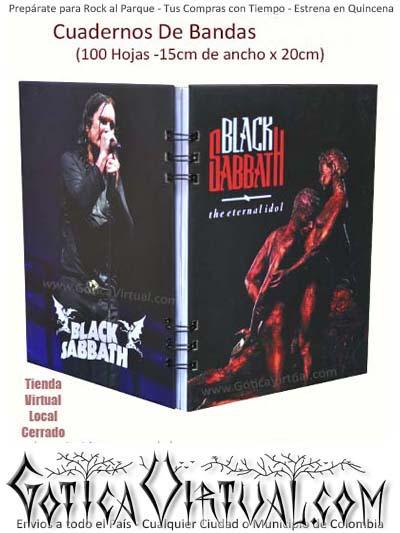 agendas cuadernos bandas rock metal argollados black sabbath colombia envios antioquia boyaca cucuta medellin domicilios bogota