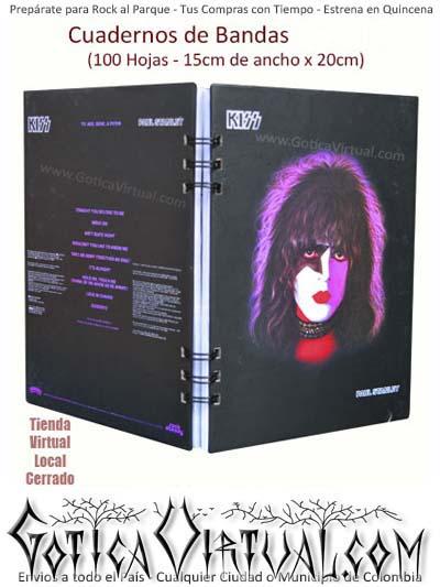 agendas cuadernos bandas rock metal argollados kiss colombia envios cali pasto armenia medellin domicilios bogota ventas por mayor