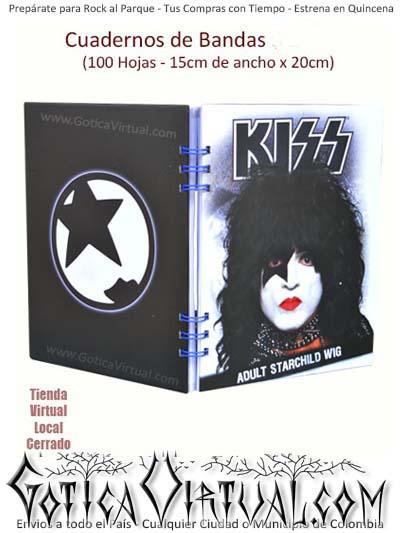 cuaderno bandas utiles clases kiss agendas escolar envios bogota cali soacha medellin pereira pasto colombia
