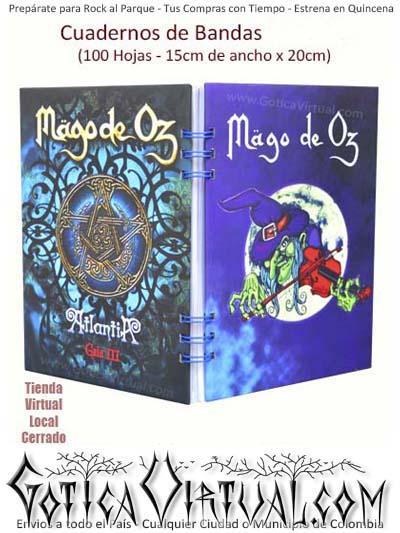 agendas cuadernos bandas mago de oz rock metal argollados ventas detal y por mayor colombia envios todo el pais domicilios bogota