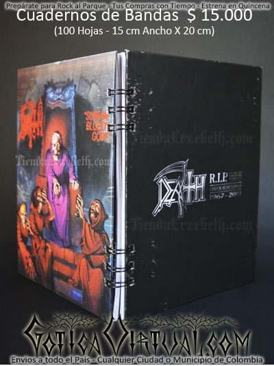 cuaderno libreta argollado death 02 bandas rock metal envios a todo el pais domicilios tienda online colombia bogota medellin cali barranquilla cartagena pereira manizales cucuta boyaca