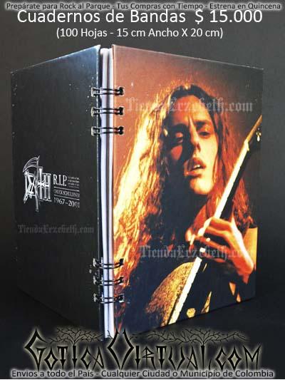 cuaderno libreta argollado death bandas rock metal envios a todo el pais domicilios tienda online colombia bogota medellin cali barranquilla cartagena pereira manizales cucuta boyaca