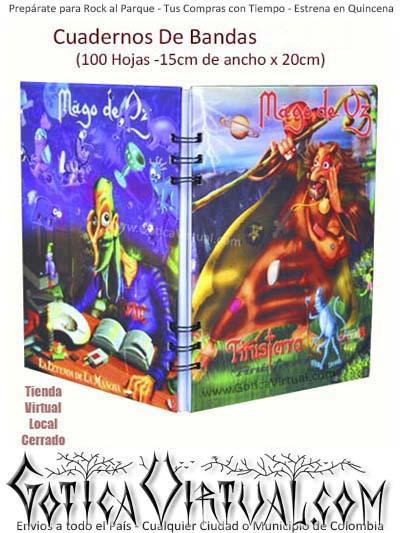 agendas cuadernos bandas mago de oz rock metal temporada escolar utiles ventas detal y por mayor colombia envios todo el pais domicilios bogota