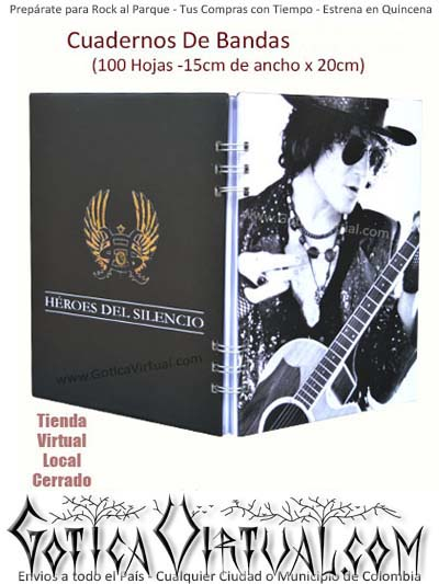 agendas cuadernos heroes del silencio originales bandas rock metal envios colombia cucuta medellin armenia cali cartagena domicilios bogota