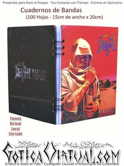 cuadernos envios bogota escolar bandas death colombia clases manizales cali medellin cartagena past