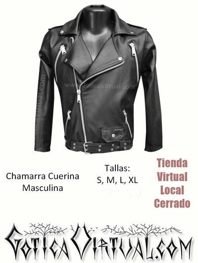 chamarra cuerina hombre negro chaquetas bogota cuero imitacion barata economica rockera metalera heavy estilo dark store medellin cali manizales armenia pereira