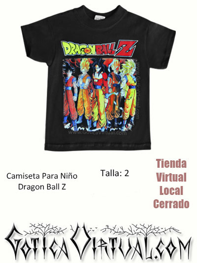 camiseta dragon ball z nino tienda online venta bogota armenia cesar tunja cali cesar tolima valle mocoa colombia