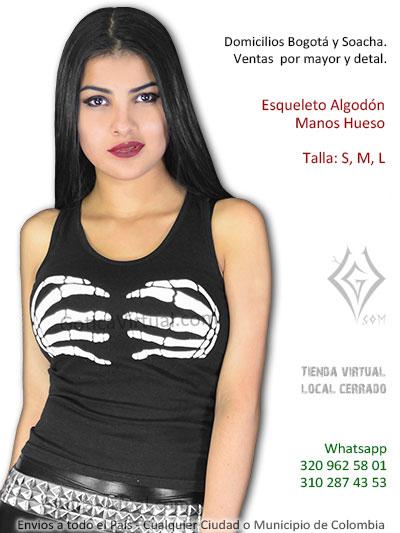 esqueleto blusa chica hueso pecho manos bonito economica venta bogota cali neiva cucuta yopal casanare leticia medellin colombia