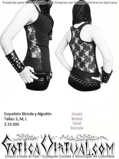 esqueleto blonda bogota gotico licrado flores goticos metaleros rockeros tienda almacen ropa femenina medellin cali yopal manizales erzebeth ventas por mayor y detal