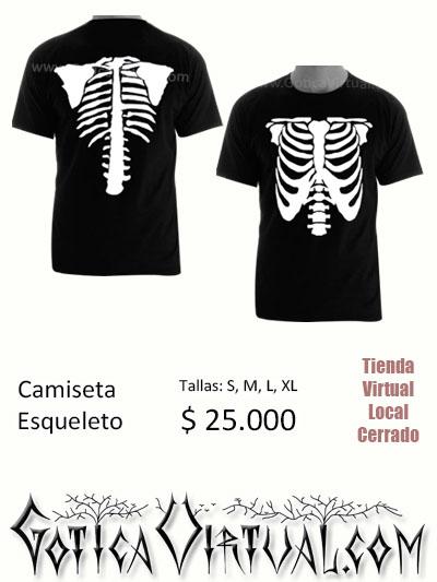 esqueletos huesos camisa hombre estampado envios colombia medellin cali bogota manizales pereira pasto